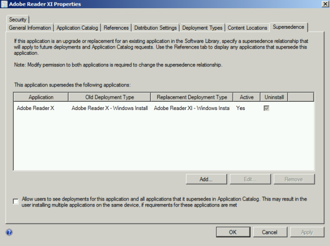 SCCM 2012: Superseding Applications, a real world example… | Marc